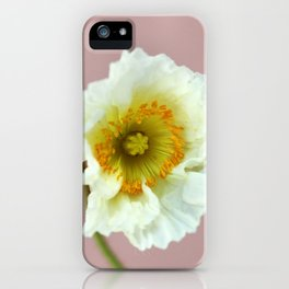 Poppy On Pink iPhone Case