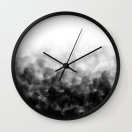 Ombre Smoke Clouds Minimal Wall Clock