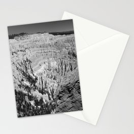 Amazing Bryce Canyon View in Monochrom Stationery Cards