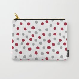 University of Alabama colors dots polka dots minimal pattern college football sports Carry-All Pouch