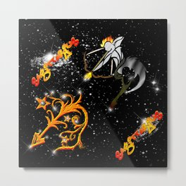 Sagittarius Astrology Sign Metal Print