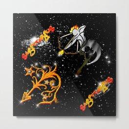 Sagittarius Astrology Sign Metal Print