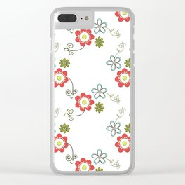 Ditsy Flower Chain Clear iPhone Case