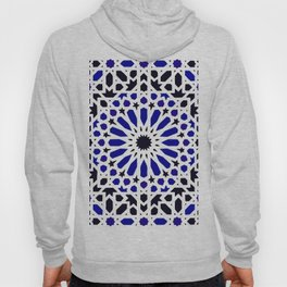 (N8) Epic Original Blue Moroccan Geometric Artwork. Hoody