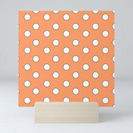 Orange Pastel Polka Dots Mini Art Print