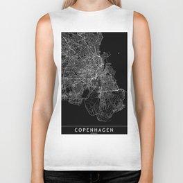 Copenhagen Black Map Biker Tank