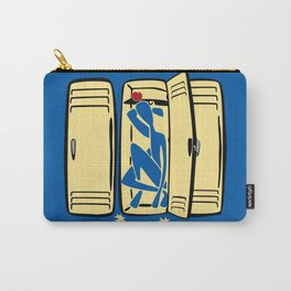 Blue (is shoved in a locker) Carry-All Pouch