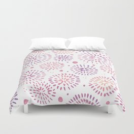 Abstract watercolor sparkles – pastel pink and ultra violet Duvet Cover
