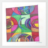 stained glass Art Prints featuring Stained Glass by SaraLaMotheArt