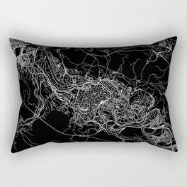 Bilbao Black Map Rectangular Pillow