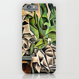 Still life with Skull After Bohumil Kubista iPhone Case