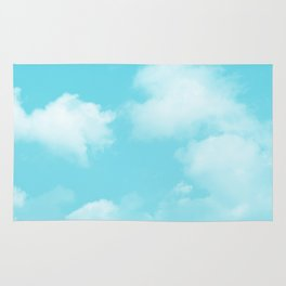 Aqua Blue Clouds Rug