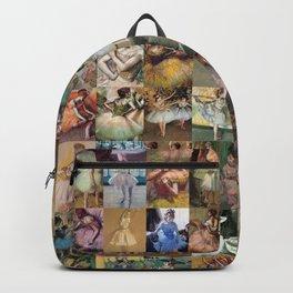 Edgar Degas Dancers Montage Backpack