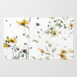 Texas Wildflowers and White Sky Rug