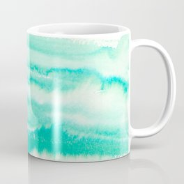 Modern hand painted teal turquoise watercolor brushstrokes Coffee Mug