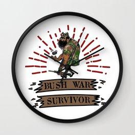 Bush War Survivor SB Wall Clock