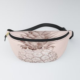 Rose Gold Pineapple on Blush Pink Fanny Pack