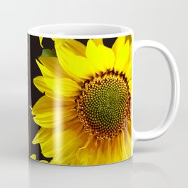 Large Sunflowers on a black background - #Society6 #buyart Coffee Mug