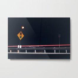 Night Traffic Metal Print