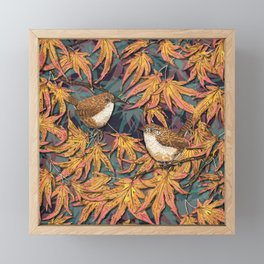 Garden Wrens Framed Mini Art Print