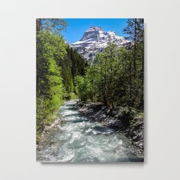 Hikes through Switzerland Metal Print