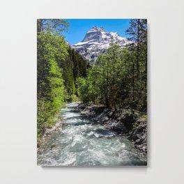 Hikes through Switzerland Metal Print