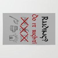 vikings Area & Throw Rugs featuring Raiding 1, Vikings by ZsaMo Design