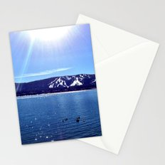 Sun on the lake. Stationery Cards
