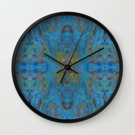 Blue Marble Painting Pattern Wall Clock