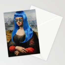 Millennial Mona (with the blue hair) Stationery Cards