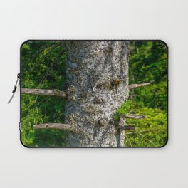 Tree Trunk with short thick Branch Stumps Laptop Sleeve