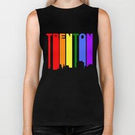 Trenton New Jersey Gay Pride Rainbow Skyline Biker Tank