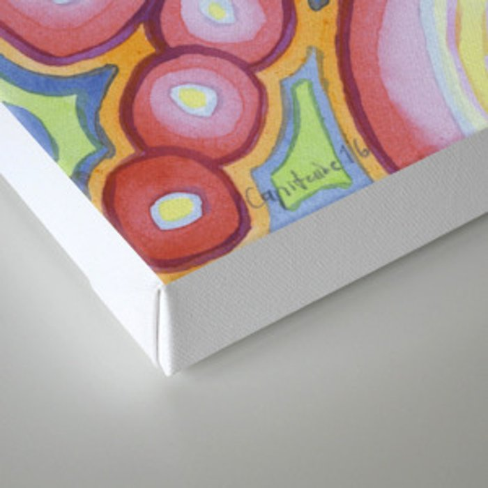 Fitting Pieces Pattern Canvas Print