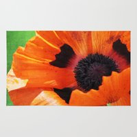 poppy Area & Throw Rugs featuring POPPY by Teresa Chipperfield Studios