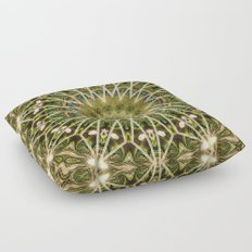Geometric Forest Mandala Floor Pillow
