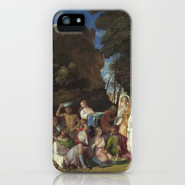 Giovanni Bellini and Titian The Feast of the Gods 1514 1529 Painting iPhone Case