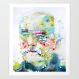 OTTO VON BISMARK - watercolor portrait Art Print