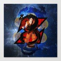 dbz Canvas Prints featuring DBZ - Goku by Mr. Stonebanks