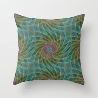 fractal Throw Pillows featuring Fractal by David Zydd