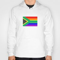 south africa Hoodies featuring south africa country gay flag homosexual by tony tudor