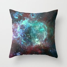 Star field in space Throw Pillow