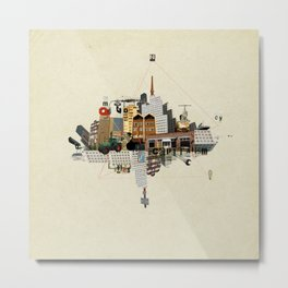 Collage City Mix 5 Metal Print