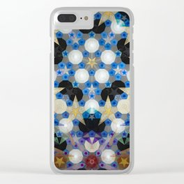 Suspended Stars Clear iPhone Case