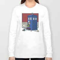 hallion Long Sleeve T-shirts featuring Who wants to Build a Snowman? by Karen Hallion Illustrations