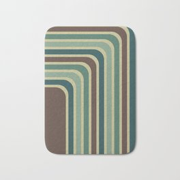 Retro Stripes Pattern Bath Mat