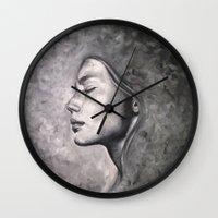 destiny Wall Clocks featuring Destiny by Pamela Schaefer
