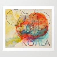 koala Art Prints featuring Koala by Alvaro Tapia Hidalgo