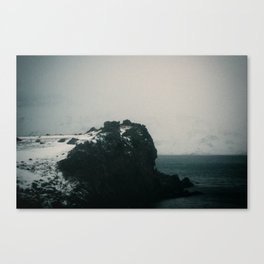 Foggy Cliff Canvas Print