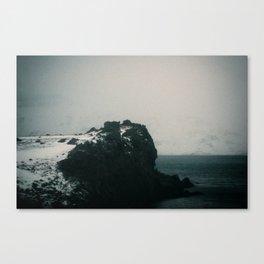 Foggy Cliff Canvas Print