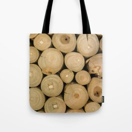 Stacked lumber Tote Bag